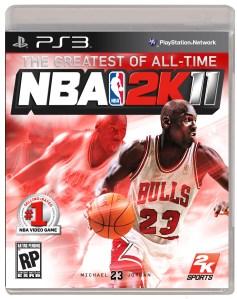 Michael Jordan NBA 2K11 cover