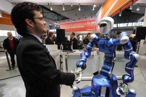 German robotics engineer Thomas Wimboeck