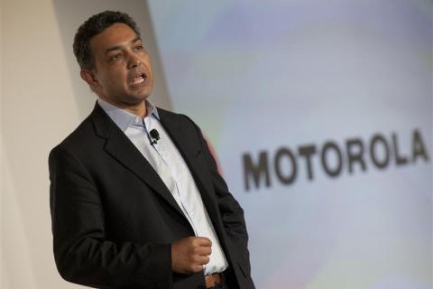 Motorola CEO, Sanjay Jha speaks at the launch of the Motorola PHOTON 4G Summer and the Motorola TRIUMPH Virgin Mobile Summer in New York