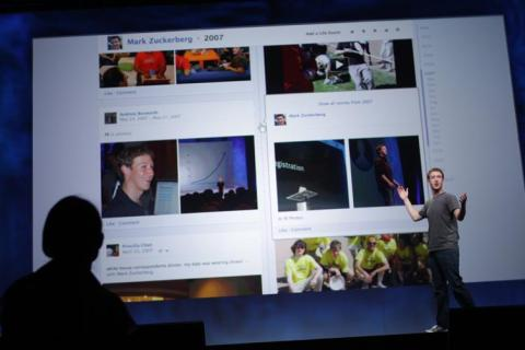 Facebook CEO Mark Zuckerberg introduces Timeline at Facebook event in San Francisco