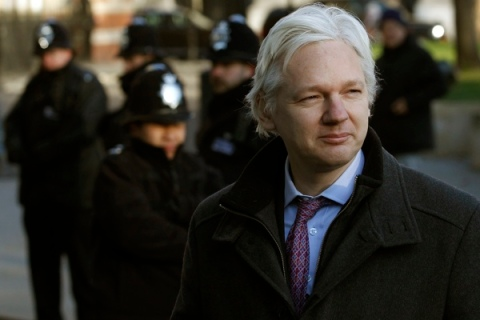 Wikileaks founder Julian Assange arrives at the Supreme Court in Westminster, on the second day of his extradition appeal, in central London