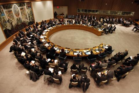 United Nations Security Council meets at U.N. headquarters in New York January 31