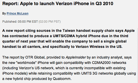 Apple Insider article