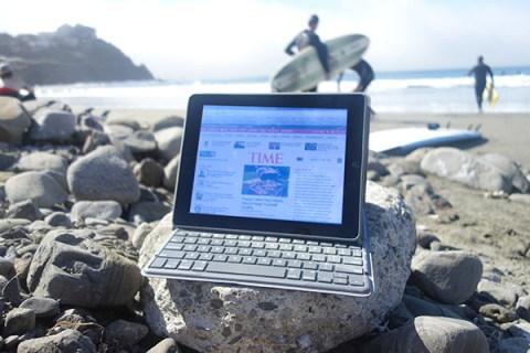 iPad at the beach