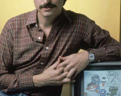 Steve Jobs with an Apple II