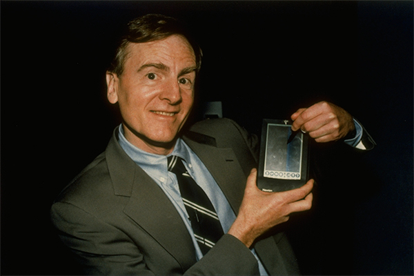 John Sculley with a Newton