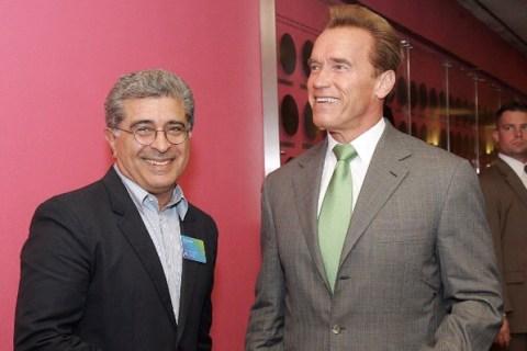 Terry Semel with Arnold Schwarzenegger