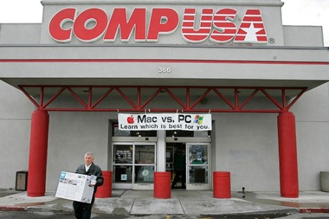 In 2006, CompUSA tried to answer the Mac-or-PC question for its customers.