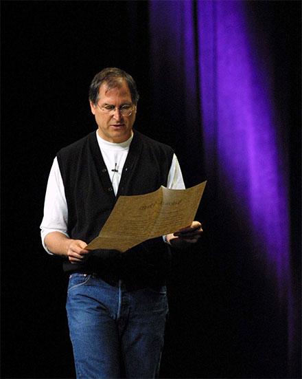 Steve Jobs at WWDC 2001