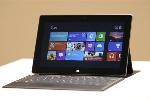 The new Surface tablet computer by Microsoft