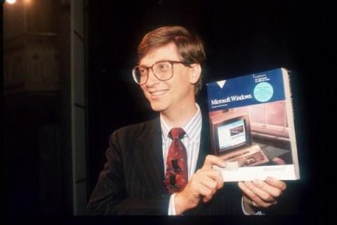 Bill Gates with Windows 3.0