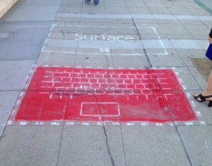Surface chalk drawings