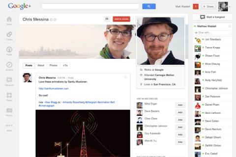 Google+ copy