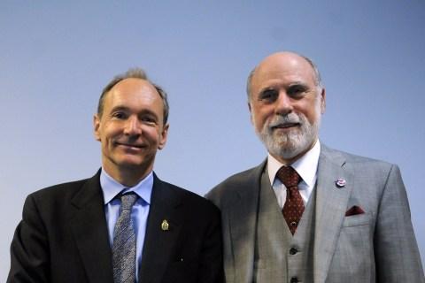 Tim Berners-Lee and Vint Cerf