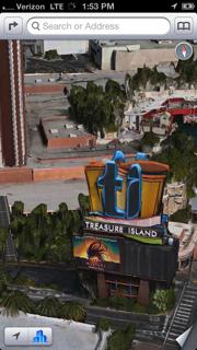 Las Vegas in iPhone 5 Maps