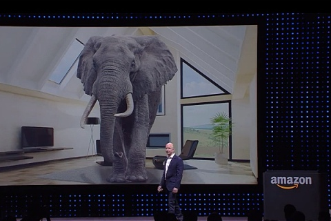 Jeff Bezos with an elephant