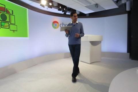 Google Senior VP Sundar Pichai introduces the new Samsung Chromebook