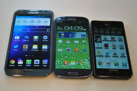 Galaxy Note II and others