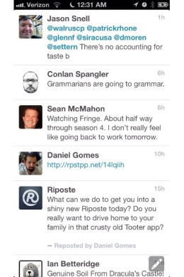 [image] Riposte, an App.net client for the iPhone