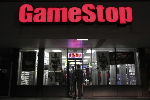 "People enter a GameStop store during ""Black Friday"" sales in Carle Place, New York"