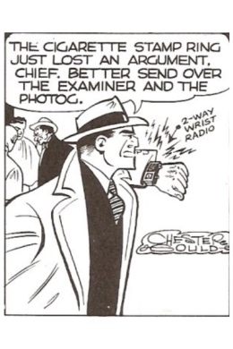 [image] Dick Tracy with 2-way wrist radio