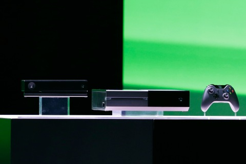 Microsoft Corp.'s next-generation Xbox One entertainment and gaming console system is shown on stage in Redmond, Wash., on May 21, 2013.