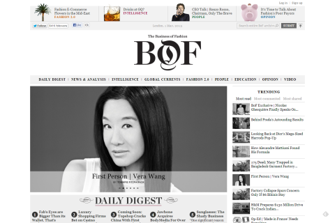 BoF - The Business of Fashion - Fashion News, Analysis and Business Intelligence from the leading digital authority on the global fashion industry.