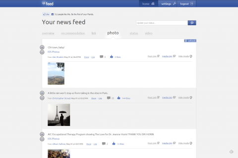 LeFeed - Learns & Organizes News Feed, Recommends New Content
