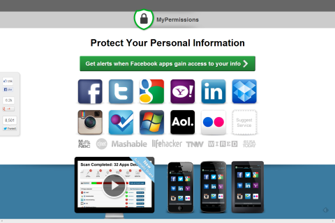 MyPermissions.org - Scan your permissions... Find out who gained access to your personal info.