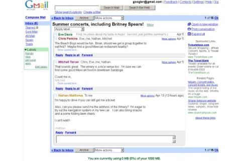 Gmail Circa 2005