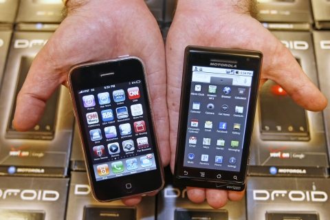 iPhone and Droid