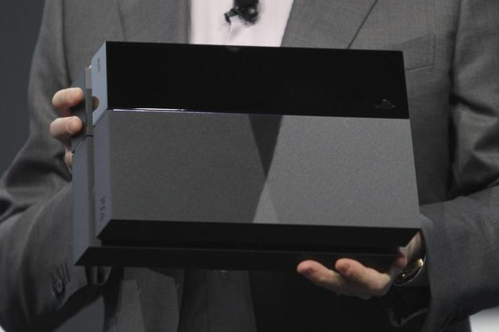Sony Computer Entertainment Inc. President and Group CEO House presents the Sony Playstation 4 at the Sony news conference show on the eve of the opening of E3 in Los Angeles