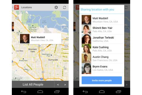 Google+ Location Sharing