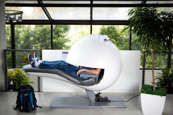 A sleep pod to promote restorative naps.