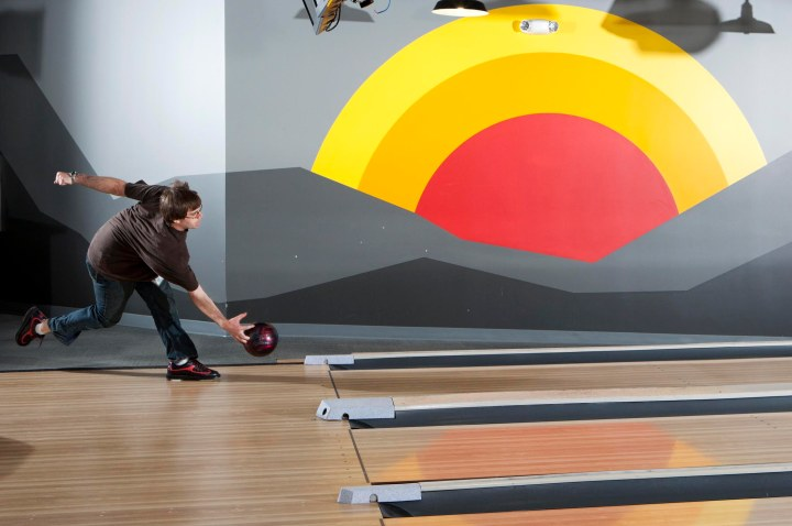 Google's in-house bowling alley.