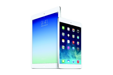 The iPad Air (left) and iPad Mini With Retina Display