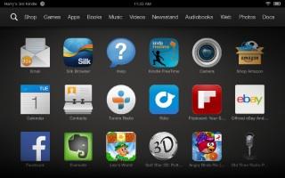Amazon Kindle Fire HDX screen