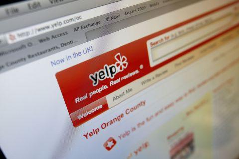 Yelp on screen
