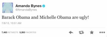 Amanda Bynes Calls Barack and Michelle Obama ugly