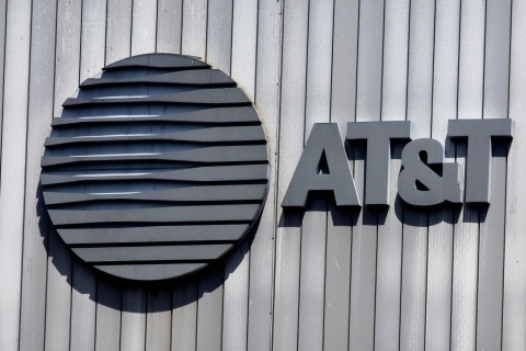 The AT&T logo and initials sit atop thei